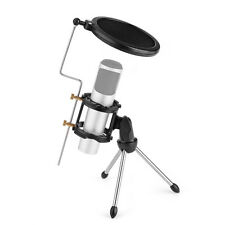 High Quality Adjustable Microphone Desktop Mini Tripod Stand + Windscreen Cover