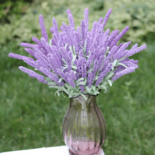 1 Bunch Light purple Artificial Lavender Flower 12 Heads Plant Home Decor