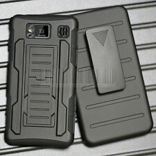 For Motorola Droid Razr HD XT925 Rugged Hybrid Armor Case Hard Cover Holster