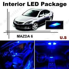 Blue LED Lights Interior Package Kit for Mazda 6 2014 & up ( 11 Pieces )