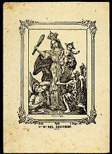 santino stampa popolare 1800 S.MARIA  DEL SOCCORSO