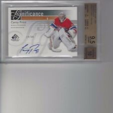 Carey Price Montreal Canadiens BGS 9.5,10 2011-12 SPGU Auto #SIGCP GEM MINT19/50
