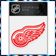 "Detroit Red Wings NHL Die Cut Vinyl Sticker Car Bumper Window 3.1""x4"""