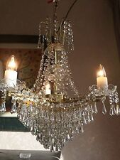 Beautiful Elegant Vintage French Chandelier 3 Arm Swagged Quality Piece