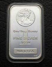 Walking Liberty Design 1 Troy oz .999 Fine Silver Bar Made In The USA