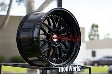19x9.5 19x10.5 +22 Inch ESR Sr01 5x114.3 Gloss Black Wheels Rims G35 G37 350z GS