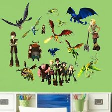 Cartoon Movie How to Train Your Dragon Wall Stickers Vinyl Mural Baby Kids Decor