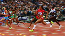 "036 Allyson Felix - American Track And Field Sprint Athlete 25""x14"" Poster"