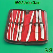 HEGAR Uterine Dilator Sounds 3/4mm to 17/18mm 8 Pcs OB/GNY Surgical Instruments