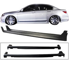 FIT FOR 2011-2012 HONDA ACCORD 4DOOR OE STYLE SIDE SKIRTS POLYPROPYLENE PP