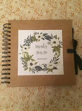 Personalised Hen Party Scrapbook With Advice, Date Night & Memory Cards - Blues