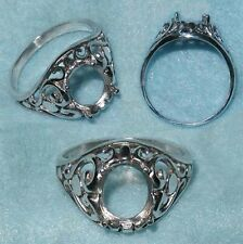10x8 oval Filigree Ring Setting SIZE 7 Sterling Silver ring casting