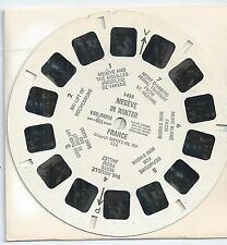 1458 Megeve in Winter France 1957 View-master Reel Made in Belgium