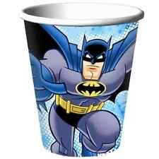 RARE Batman Brave & Bold Superhero Cartoon Kids Birthday Party 9 oz. Paper Cups