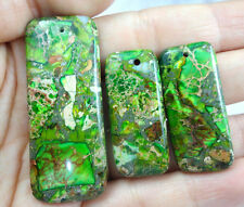 Unique 3pcs Rainbow Mare Sedimenti Jasper & PIRITE Ciondolo Perline Set