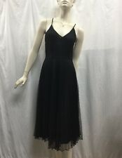 Miss Shop Size 8 Halter Neck Cross Strap Black Pleated Polka Dot Party Dress