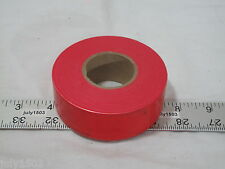 """(1) roll Red Flagging Tape 1-3/16"""" x 300' 2 mil Trail Marking Free Shipping"""