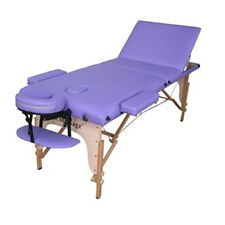 Purple PU Reiki Portable Massage Table w/Carry Case Spa Salon Facial Chair U3Z