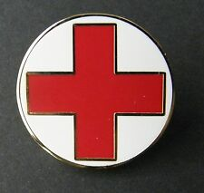 RED CROSS EMERGENCY MEDICAL CARE FIRST RESPONDER LAPEL PIN BADGE 1 INCH