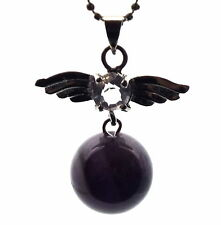 Guardian Angel Inspired Amethyst Sphere Crystal Pendant