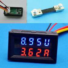 30V 100A Digital DC Voltmeter Ammeter LED Amp Volt Meter + Current Shunt New