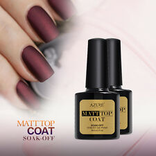 AZURE BEAUTY NAIL GEL POLISH MATT TOP COAT MATTE TOP UV/LED SOAK OFF PRIMER 8ML