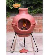 NEW Cozumel Chimenea Garden Chimney Outdoor Patio Fire Pit Heater BBQ Grill Lawn