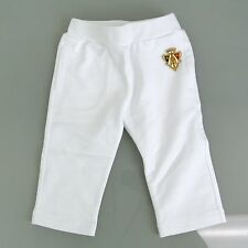 New Authentic Gucci White Pants w/Hysteria Crest, 6-9 Month, 265394