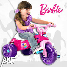 Barbie Tricycle Kids Pink Trike Bike Toy Girls Toddler Kid Ride Wheel Child New