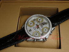 JACOB & CO JACOB AND CO 5 TIME ZONE 47MM W/ PAVE DIAMOND CASE, BEZEL& DIAL JC-30