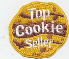 Girl Boy TOP COOKIE SELLER COOKIE Fun Patches Crest Badge SCOUTS GUIDE