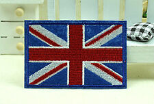 New UK United Kingdom Flag Embroidery Iron Sewn On Patch 7.8x5cm Special