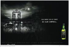 PUBLICITE ADVERTISING 095  2003 CLAN CAMPBELL  whisky ( 2p) ENTREZ SUR SES TERRE