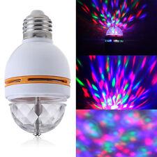 E27 3W RGB Coloré Ampoule Lampe LED Tournant Lumière Pour Party Disco Lumineux