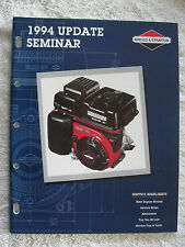 1994 BRIGGS & STRATTON UPDATE SEMINAR ENGINE SERVICE MANUAL