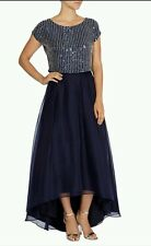 Coast Size 18 Navy Bella Marie Embellished Beaded Sequin Party Top, New