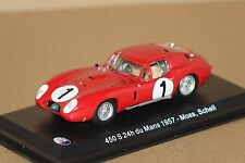 Maserati 450S 24h du Mans 1957 Moss / Schell 1 1:43 Atlas neu & OVP