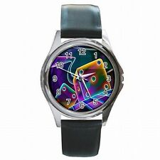 Colorful Craps Dice Gambler Las Vegas Accessory Leather Watch New!