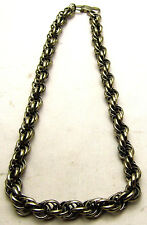 "Vintage 21"" 12mm Thick Rope Twist Chain for Men or Women Daily Wear Gold Tone"