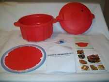 New Cook's Essentials 4.5 Qt. RED Microwave Pressure Cooker for Microwave use