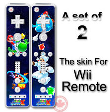 SUPER MARIO GALAXY 2 NEW SKIN STICKER #2 for Wii Remote