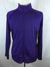 Mens Tek Gear XL Slim Purple Compress Full Zip Sweater Tracksuit EUC