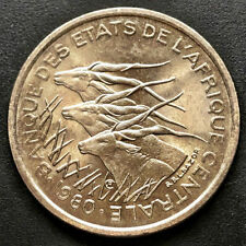 """CENTRAL AFRICAN REPUBLIC, 1980  50 FRANCS COIN, """"AU"""" Uncirculated, NICE COIN"""