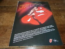 THE ROLLING STONES - LIVE LICKS !!! Publicité de magazine / ADVERT !!!
