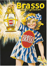 ROBERT  OPIE  ADVERTISING  POSTCARD  -  BRASSO  THE  BRIGHTENER