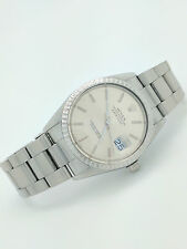 Rolex Oyster Perpetual Datejust Stainless Steel Men's Watch 16030 Very Clean NR