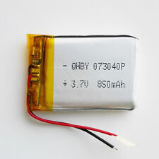3.7V 850mAh Lipo Polymer li ion Battery 703040 for cell phone Camera DVD GPS PAD