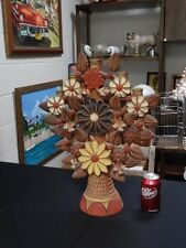 Large Tree of LIFE with Birds Flowers 5 Candle Holders Mexican Folk Art Pottery