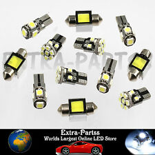 12PCS White LED Lights Interior Package for T10 & 31mm Map Dome + License Plate
