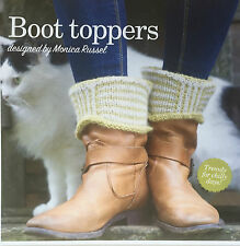 KNITTING PATTERN Ladies Welly Striped Boot Toppers Alpaca Accessory PATTERN